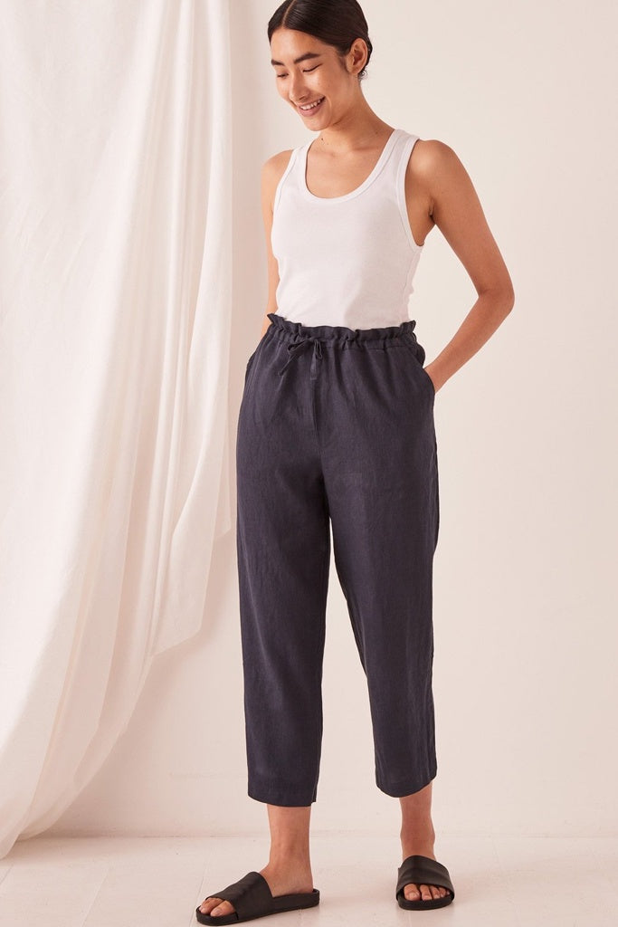 Assembly Ollie Linen Pant True Navy