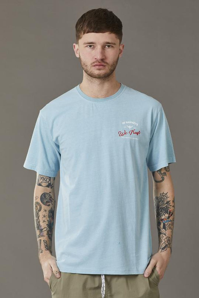 Just Another Fisherman In Gannets We Trust Tee Coastal Blue