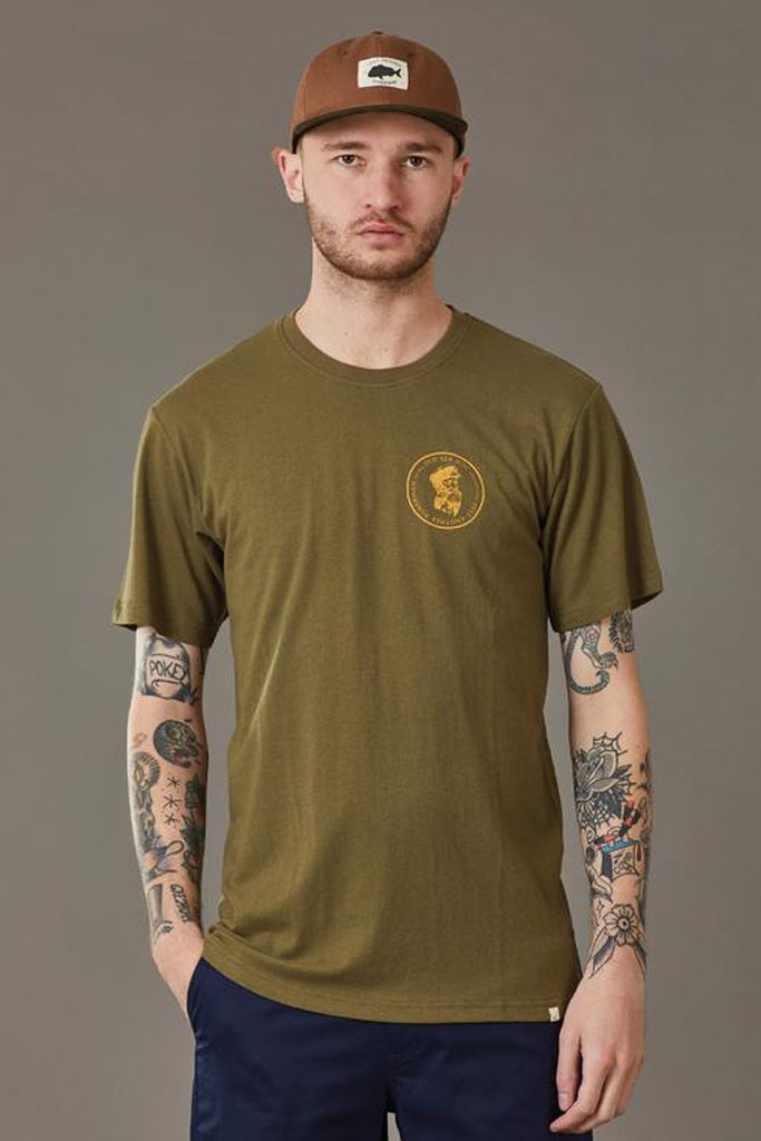Just Another Fisherman Old Sea Dog Tee Olive