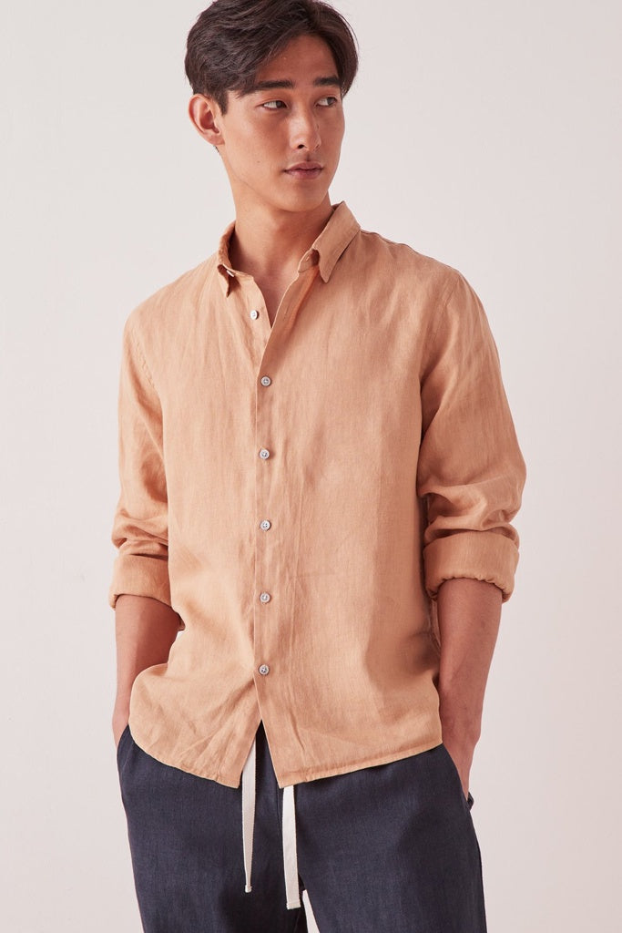 Assembly Casual Long Sleeve Shirt Taupe