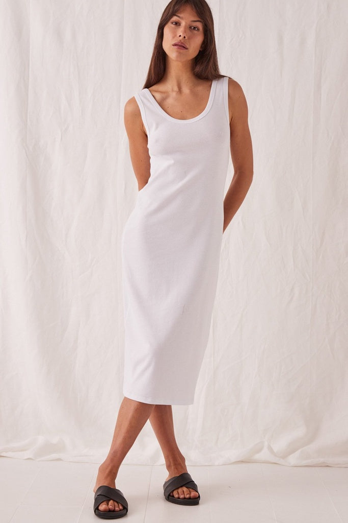 Assembly Kai Rib Dress White