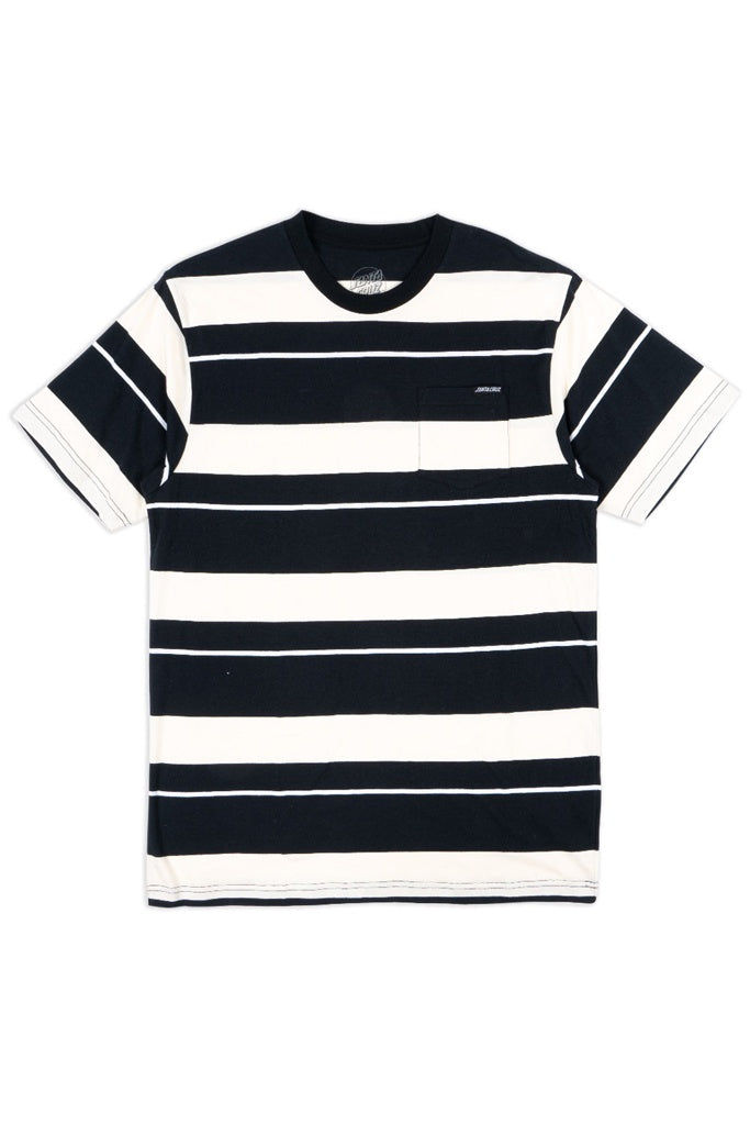 Santa Cruz Cruz Pocket Stripe Tee Offwhite