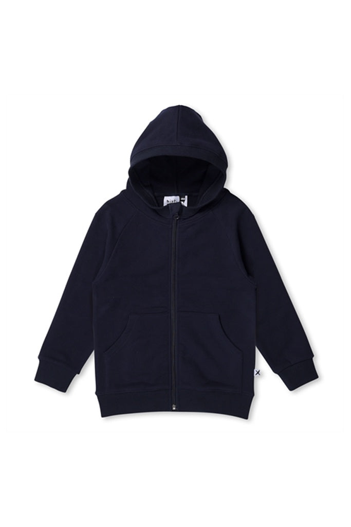 Minti Hello Furry Zip Up Oxford Blue