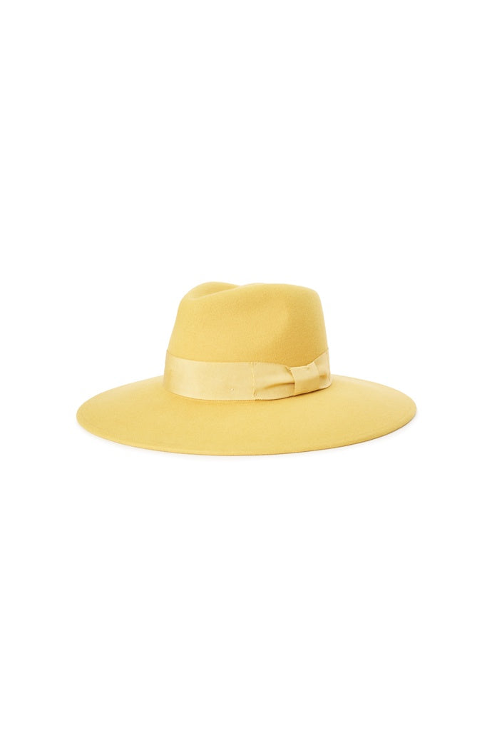 Brixton Joanna Felt Hat Sunset Yellow