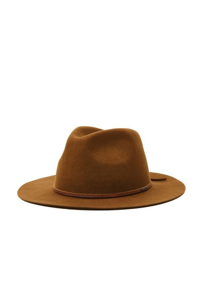 Brixton Wesley Packable Fedora Coffee