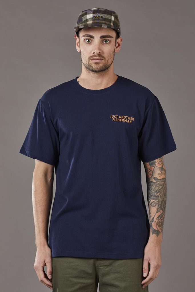 Just Another Fisherman Global Angler Tee Navy