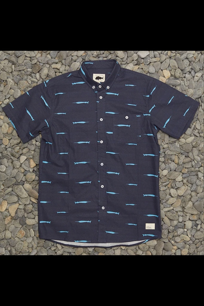 Just Another Fisherman Piper SS Shirt Navy