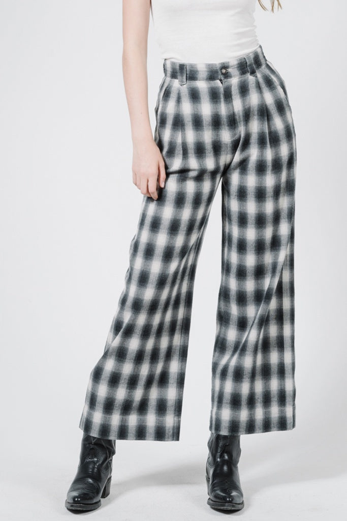Thrills Artist Plaid Pant Steel Grey