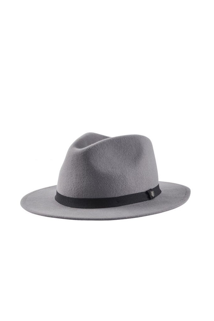 Brixton Messer Packable Fedora Grey