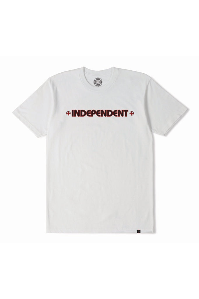 Indy Bar Cross Youth Tee White