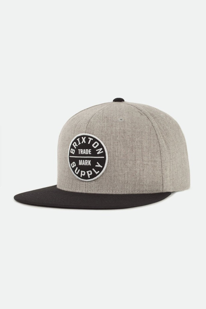 Brixton Oath III Snapback Light Heather Grey-Black