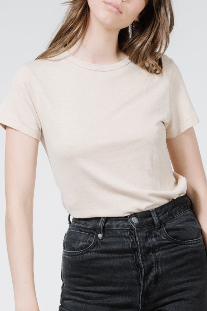 Thrills Hemp Slim Tee Nude