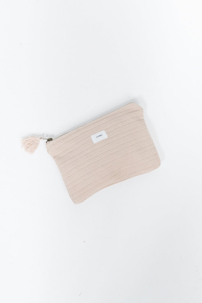 Thrills Terry Clutch Almond