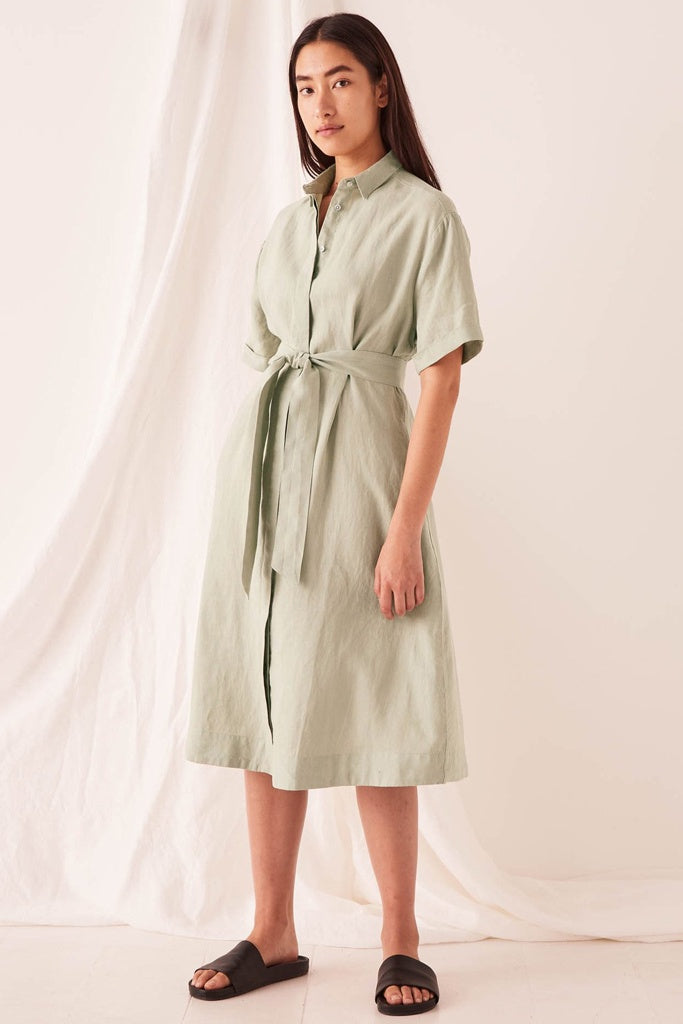 Assembly Mae Dress Soft Green