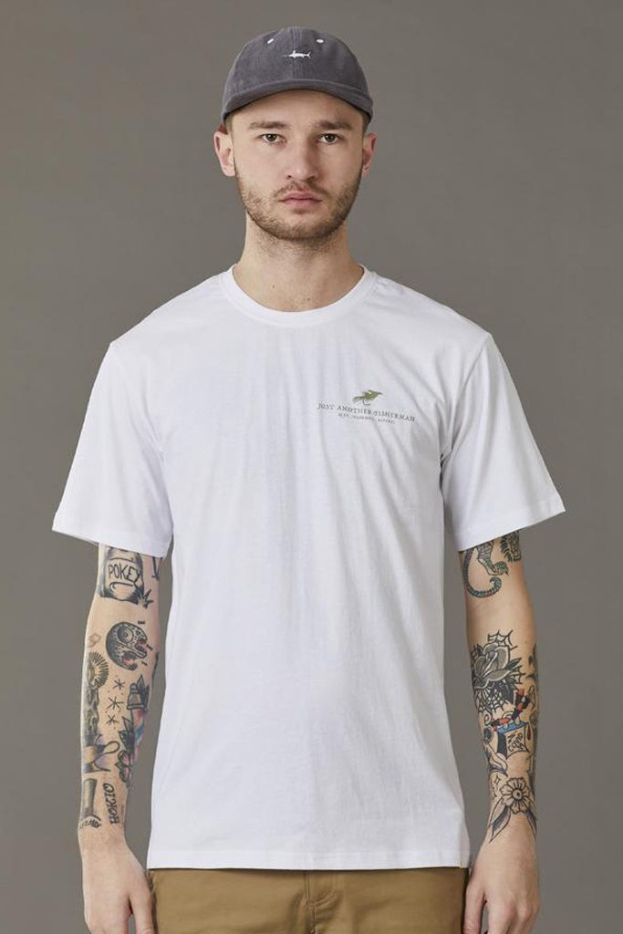 Just Another Fisherman Fly Tee White