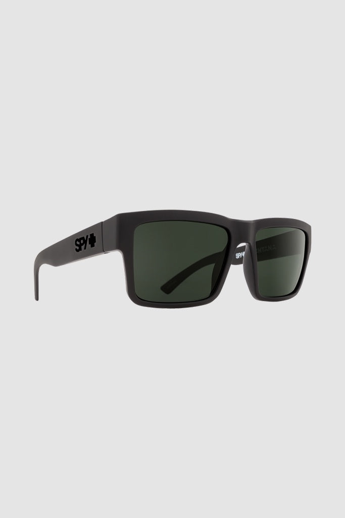 Spy Montana Soft Matte Black/Happy Grey Green Polarised