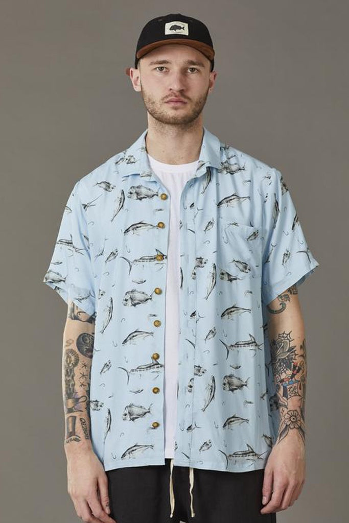 Just Another Fisherman Critters And Tackle S/S Shirt Coastal Blue