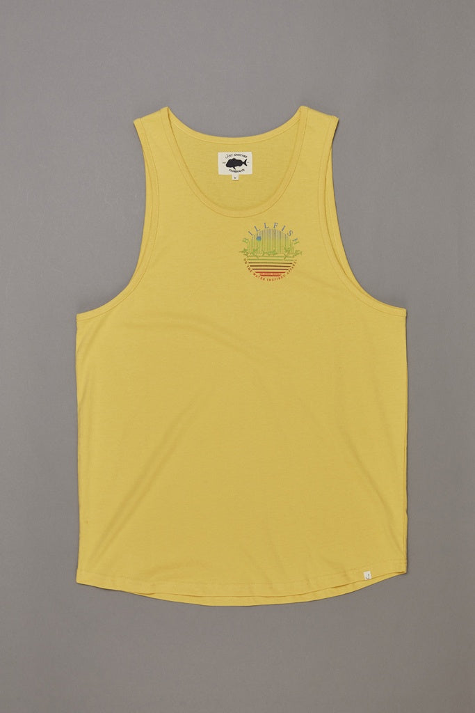 Just Another Fisherman Billfish Blend Singlet Washed Yellow