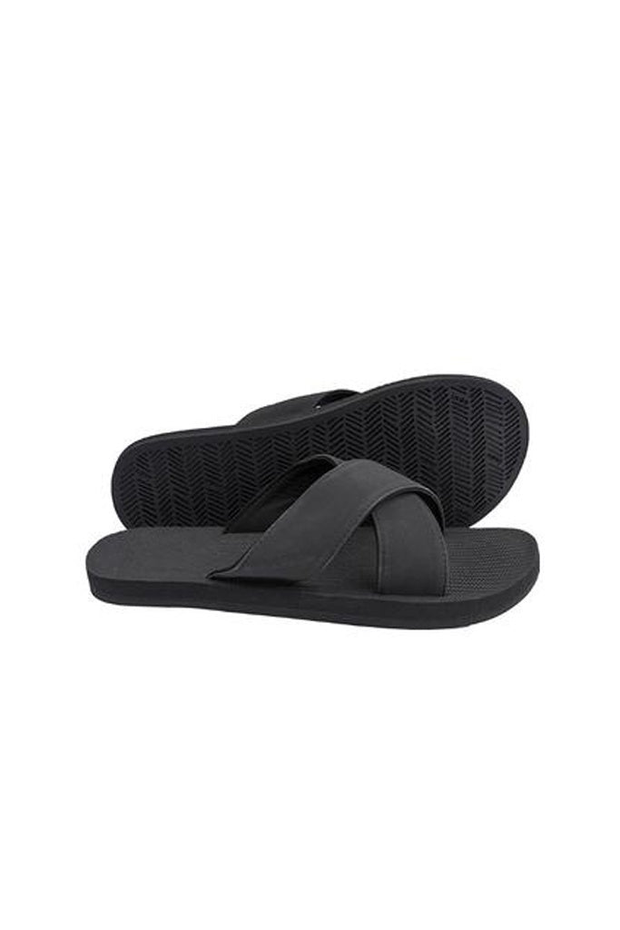 Indosole Womens Essentials Cross Black
