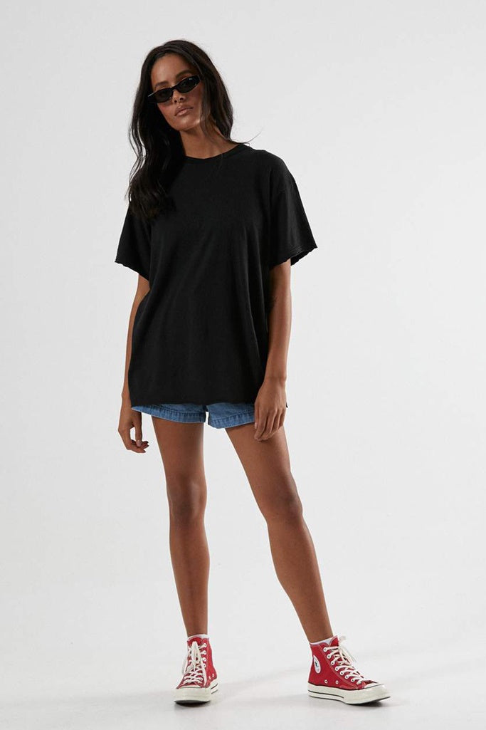 Afends Slay - Hemp Oversized Tee - Black