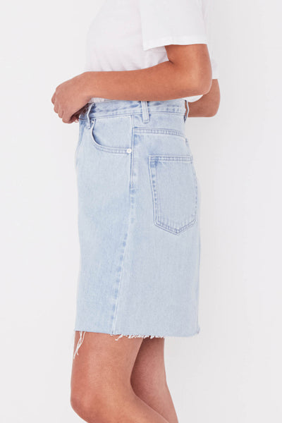 Assembly Rigid Fray Skirt Pacific Blue