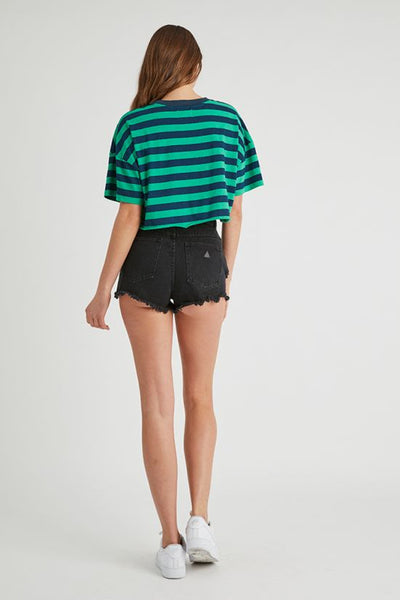 Abrand High Relaxed Short Salty Black
