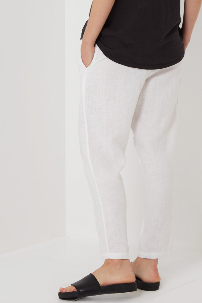 Assembly Anya Linen Pant White