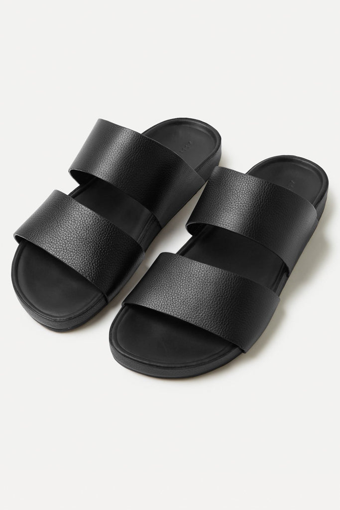 Assembly Double Strap Slide Womens Black