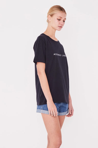 Assembly Logo Cotton Crew Tee True Navy