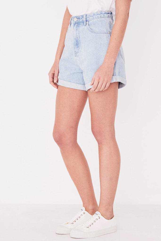 Assembly Rolled Hem Shorts Pacific Blue