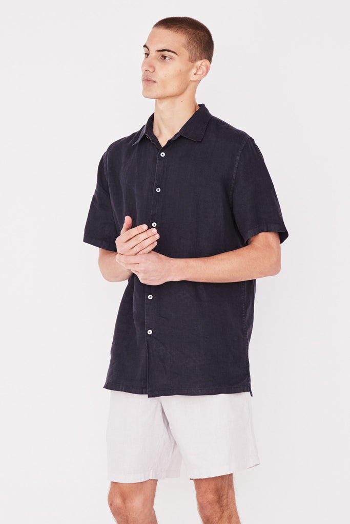 Assembly Casual Short Sleeve Shirt True Navy
