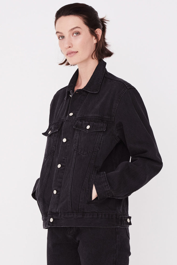 Assembly Tome Denim Jacket Washed Black