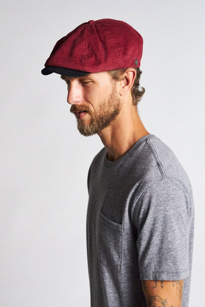Brixton Brood Cord Snap Cap MRBLK