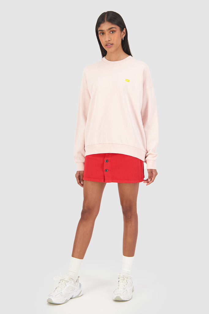 Huffer Slouch Crew Ground Gum Pink