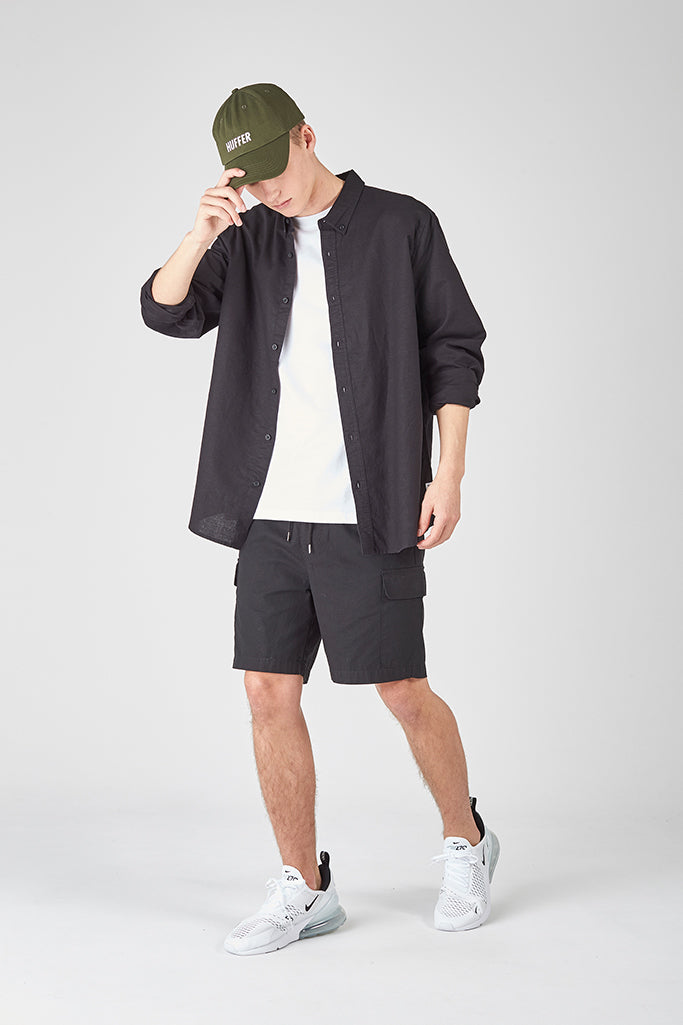 Huffer L/S Lin In Shirt Black