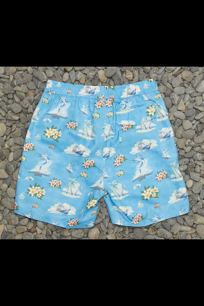 JAF Floral Marlin Shorts Blue