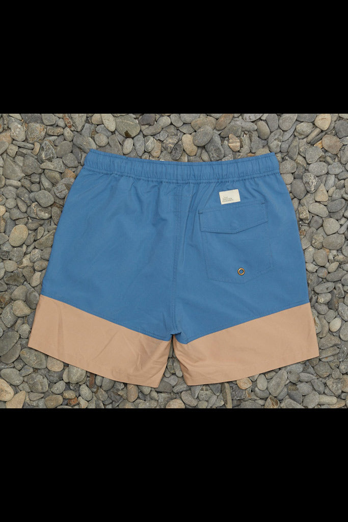 JAF Snapper Logo Shorts Blue Tan