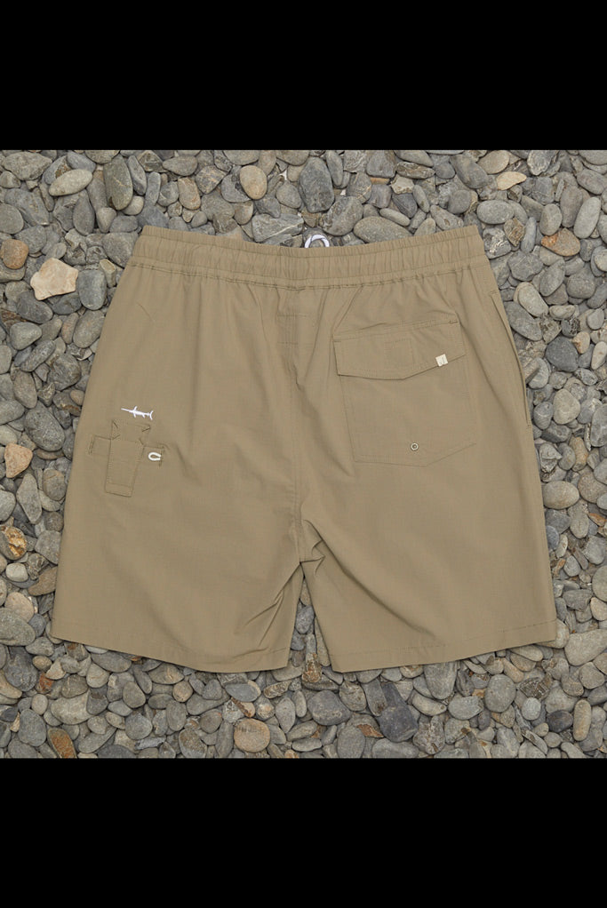 JUST ANOTHER FISHERMAN Crewman Shorts STONE