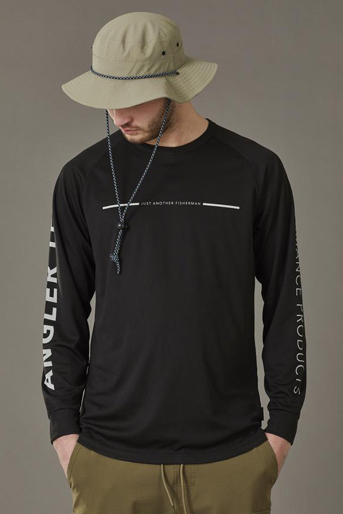 JAF Angler Tech LS Tee Black