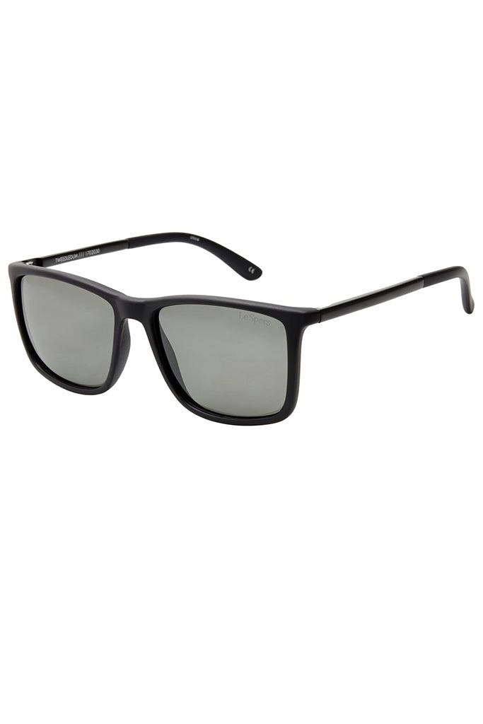 Le Spec Tweedledum Matte Black / Khaki Mono Polarized
