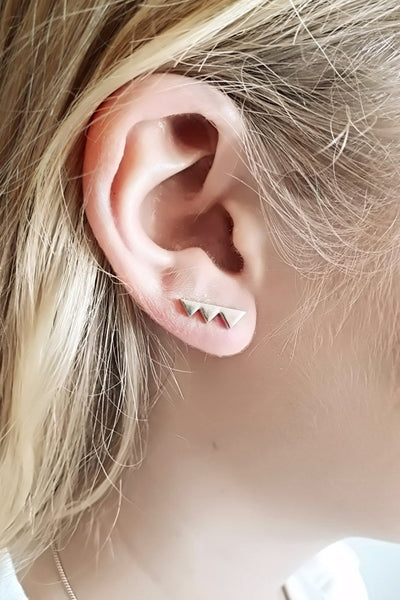Mi Aeris Stud Bar Ear Climbers