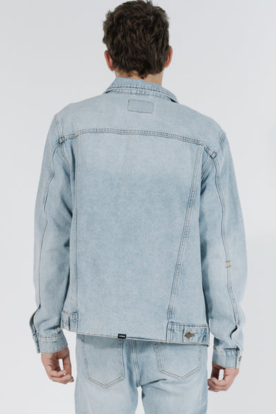 Thrills Ryder Oversized Denim Jacket - Time Worn Blue