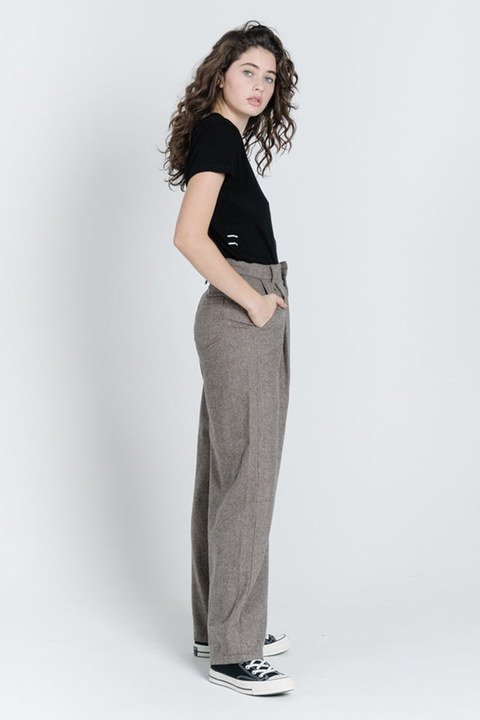 Thrills Artist Wool Pant Brown