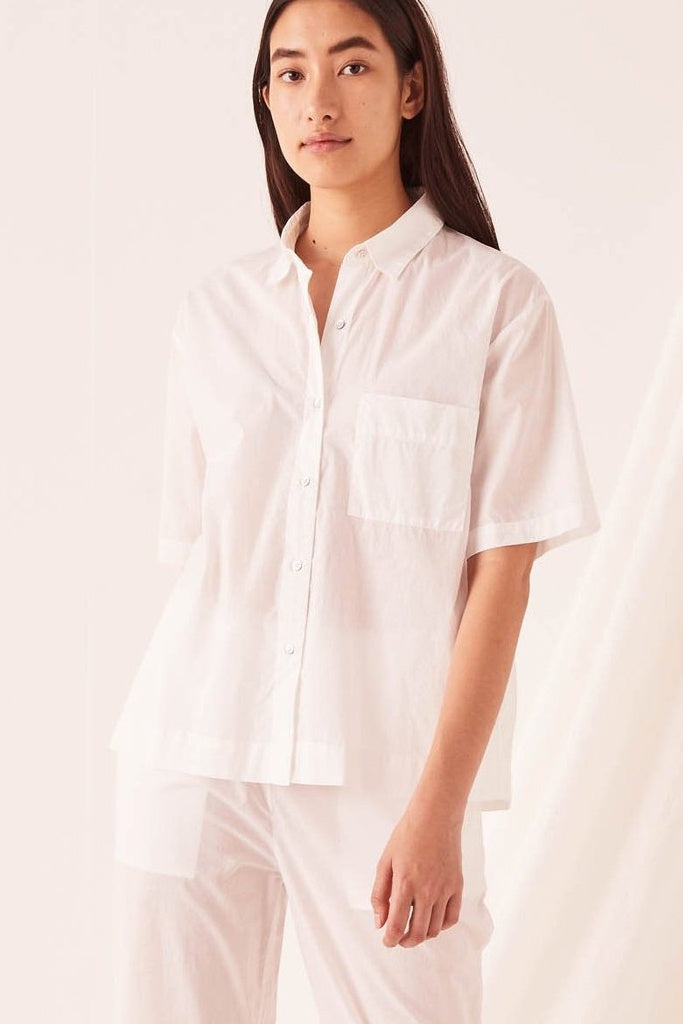 Assembly Voile Lounge Shirt White