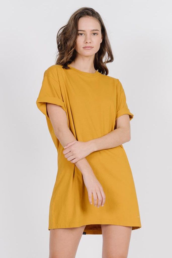 Thrills Minimal Merch Fit Tee Dress Sunlight Yellow