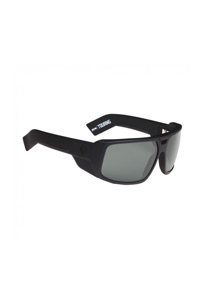 SPY Touring Soft Matte Black / Happy Grey Green Polarised