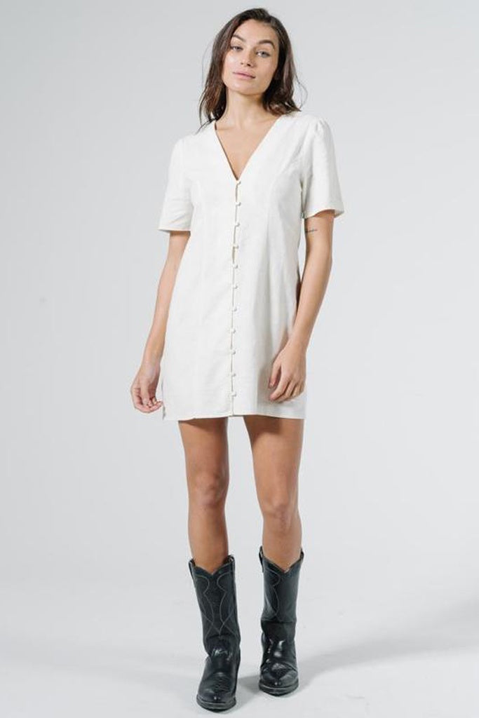 Thrills Lora Dress - Heritage White