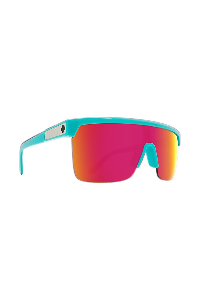 Spy Flynn 5050 Teal HD Grey Green w Pink Spec Mirror