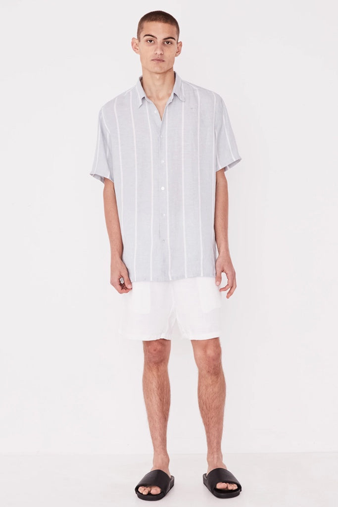 Assembly Casual SS Shirt PowderBlue Stripe