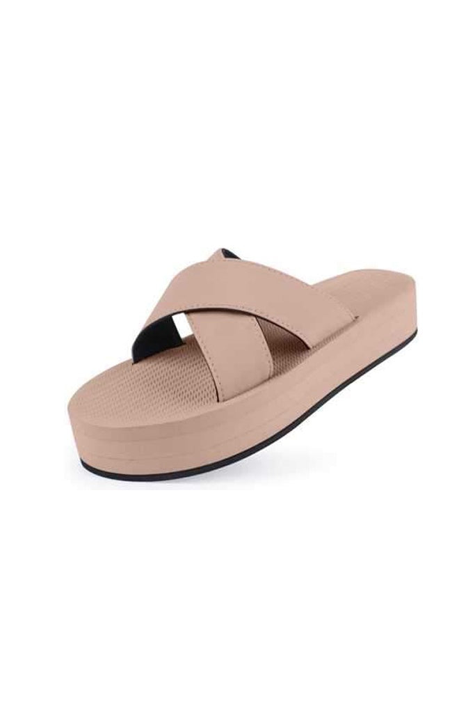 Indosole Womens Platform Cross Light Soil